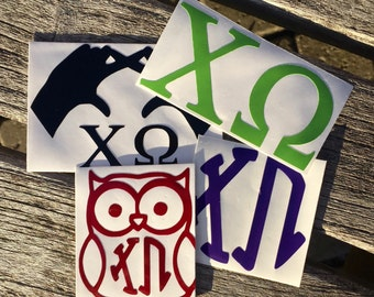 Chi Omega Decals | Sorority Stickers | Sorority Decals | Official Greek Licensed Product