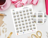 Watercolour Paint Planner Stickers - Erin Condren, Kikki K, Filofax, Happy Planner, Project Life, TN, Art, Painting, Crafting, drawing