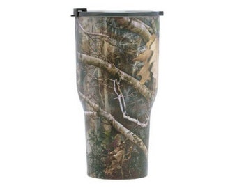 Laser Engraved RTIC 30 oz. Camo Vacuum Insulated Tumbler w/Clear Lid/ Custom RTIC