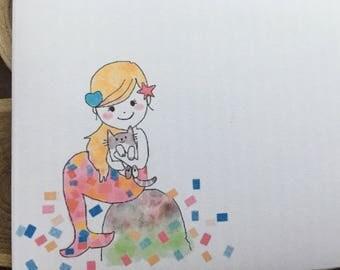 Regular envelope / Mermaid - A