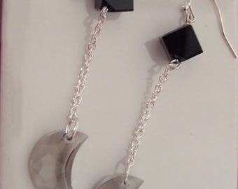 Swarovski Crystal CELESTIAL MOON Drop Earrings