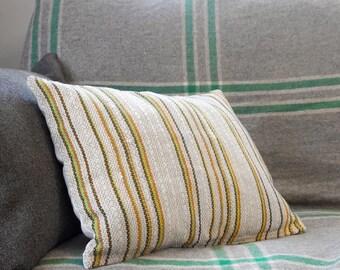 SUNDERLAND Retro Pinstripe Lumbar Cushion Cover – Mid-Century Upcycled Vintage Fabric, Mod Throw Pillow, 70s Fabric, Retro Upholstery
