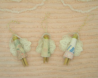 Clothespin Angel Ornament. Clothespin ornament. Clothespin angel. Angel ornament. Christmas decor. Christmas gift. Secret Santa. Angel decor