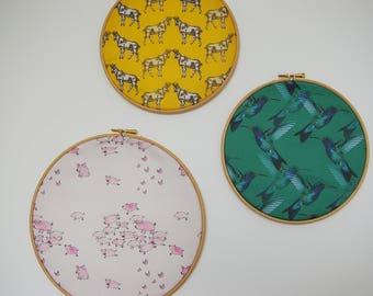 "Frame drum ""Hummingbirds"" wooden - 22 cm"