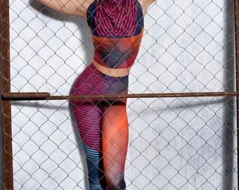 Leggings, printed leggings, striped leggings, psychedelic clothing, psychedelic leggings, geometric leggings, festival leggings, rave outfit