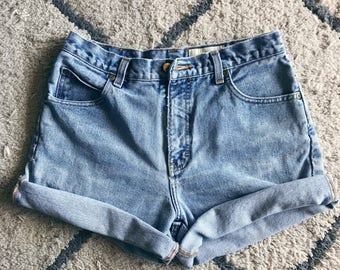 High Waisted Cuffed Shorts