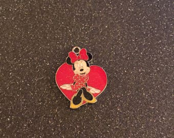 Minnie Mouse heart charm