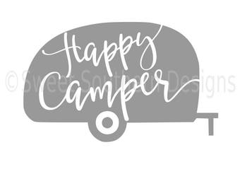 Happy Camper RV SVG Instant Download Design For Cricut Or Silhouette