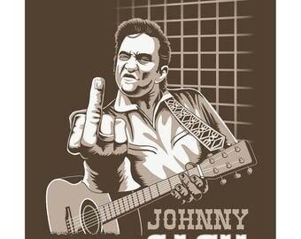 Johnny Cash. Print 40 x 30 cm.