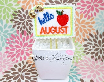 Swivel Clip - RTS (exclusive design) V2 Hello August Planner Clip, Felt Paper clips for Planners, Planner accessories, Planner Paper Clips