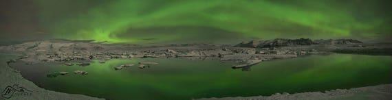 Jökulsárlón, Aurora Borealis [Photographic Print]