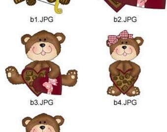 Chocolate-Valentine-Cross-Stitch   ( 5 Machine Embroidery Designs from ATW ) XYZ17F