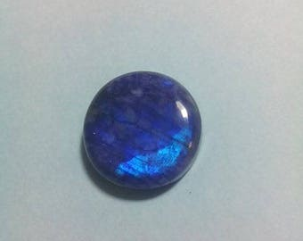 Blue Rainbow Moonstone 15 MM Cabochon