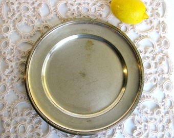 "Art Deco / Swedish / Silver Plated Platter / Silver Plate / Silver Tray / Large / 10""/ Mid Century / Scandinavian / NY.Silver / Sweden / 30s"