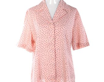 Cutest vintage 60's polka dot pinky cotton shirt