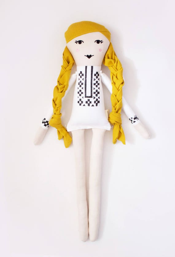 Canadian Folk Singer Joni Mitchell Cloth Doll: handmade with eco-friendly materials