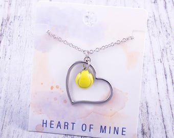 Customizable! Heart of Mine: Tennis Enamel Necklace - Great Tennis Gift!