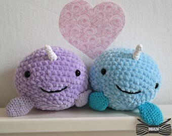 Lovely Supersoft Nawhal Couple Amigurumi