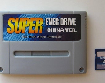Sale! Super Everdrive Nintendo SNES Famicom Flash Cart + 8gb Sd Card PAL/NTSC Supayboy S Retron 3