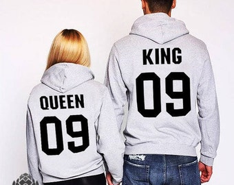 couples hoodies couples sweaters king and queen sweatshirts. Black Bedroom Furniture Sets. Home Design Ideas