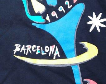 Vintage 1992 Barcelona Summer Olympics black crewneck sweatshirt