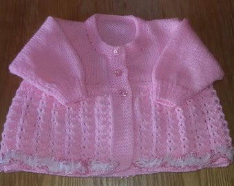 Hand knitted matinee jacket