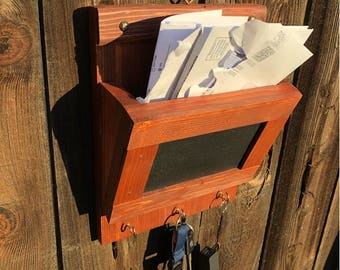 "Rustic Single Slot Mail Organizer 12""x9.25""x4"""
