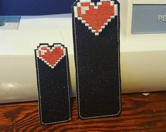 8 Bit Heart Bookmark