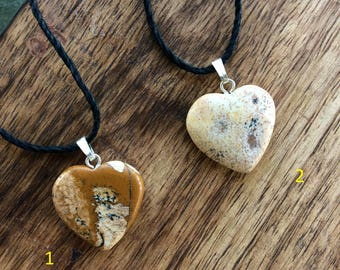 Picture Jasper Crystal Necklace