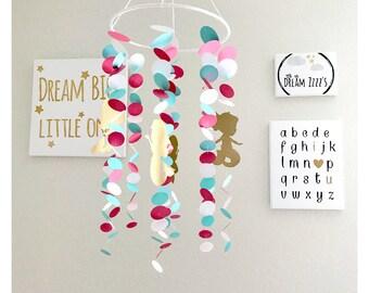 Baby Mermaid Mobile - Baby Mobile - Nursery Decor - Mermaid Crib Mobile - Baby Crib Mobile - Baby Mobile  - Baby Shower Gift - Baby Gift