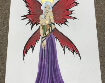 "Angelic | Original Watercolor Painting 8""x11"""