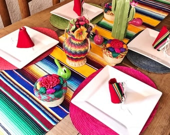 Serape table runner, mexican table runner, fiesta decorations, mexican party decorations, southwestern decor, fiesta party decor