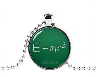 E=mc2 Necklace Theory of relativity Pendant Albert Einstein Necklace Science Jewelry