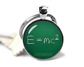 Theory of relativity Key Ring E=mc2 Keychain Science Keychain Albert Einstein Keychain