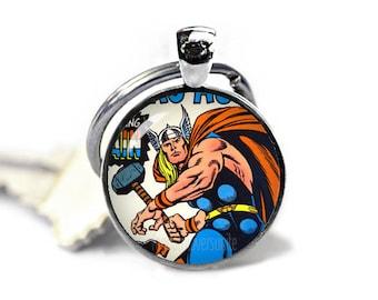 Thor Keychain Thor Keychain Comic Thor Keyfob Superheroes Keychains