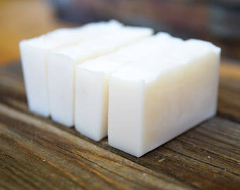 Pure Coconut Oil Soap - Unscented Soap - Aloe Vera Soap - All Natural Soap - Palm Free Soap - Vegan Soap - White Soap
