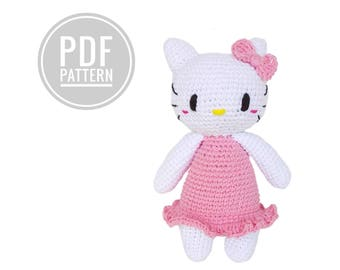 Crochet pattern hello kitty kawaii amigurumi tsum tsum  pdf