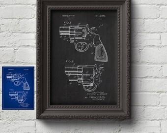 Colt Revolver 1973 Patent - Firearm, Gun, Guns, Guns Gift, Art Print, Wall Art, Art, Cute Gift
