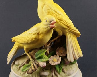 Vintage Gorham Musical Yellow Canaries Figurines