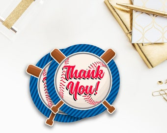Baseball Favor Tags, Stickers, Thank You tags, Baby Shower, Thank You Tags, Circular, Printable, Little Slugger, all star, sports, 053