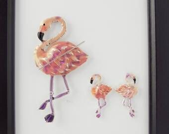 Flamingo Needleminder / Pink Flamingo Needle Minder