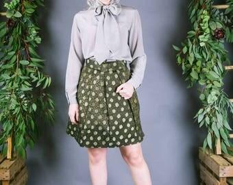 1960s Silk Skirt