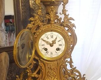 ON SALE, A D Mougin, Louis XVI clock, Ad Mougin Clock, Antique Clock, Louis xvi Ormolu Clock, French Clock, Victorian Clock, 19th Century