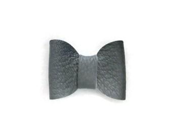 Alligator Clip Hair Bow, Genuine Leather, Hair Accessories, Blue Bow, Leather Bow, Hair Bow, Alligator Clip, Blue Leather Bow