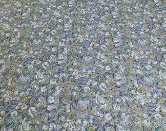Green Swirl Cotton Fabric