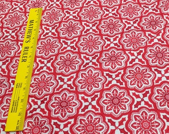 Jingle-Christmas Floral Star Cotton Fabric from Kate Spain for Moda Fabrics