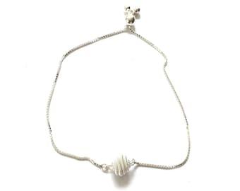 Silver Knot Adjustable Box Chain Bracelet