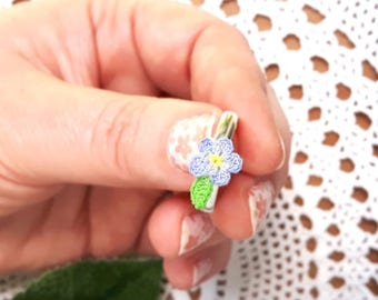 Forget me not ring adjustable. Forget me not jewelry for girls Periwinkle blue pastel flower ring Country girl jewelry Kawaii pastel jewelry