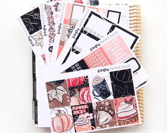 Pumpkin Spice Weekly Kit (stickers for Erin Condren Life Planner - Vertical)