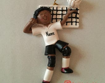 SALE! Volleyball Male Ornament, Personalized